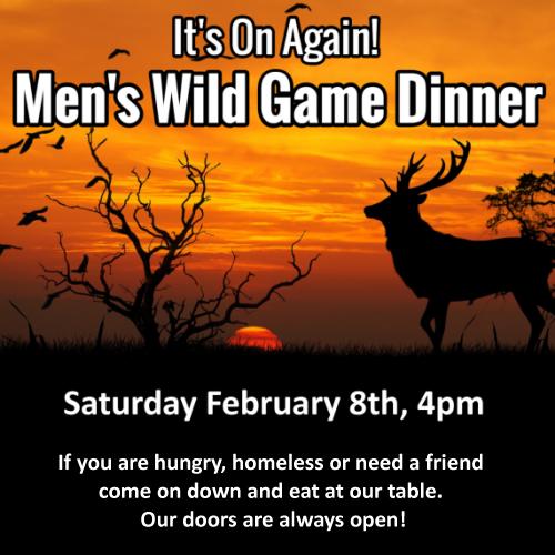5th Annual Men's Wild Game Dinner